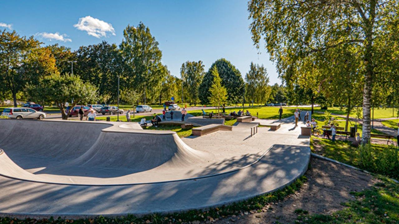 Skatepark-Skiss